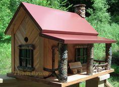 Adirondack Cabin #13 - THOM BRUSO'S ARTISTIC BIRDHOUSES