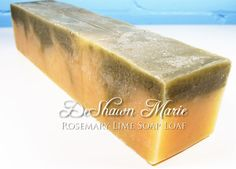 SOAP  3 lb. Rosemary Lime Handmade Soap Loaf by soaploaves on Etsy