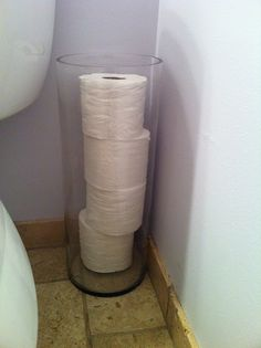 Idea for small bathroom-great idea for toilet paper