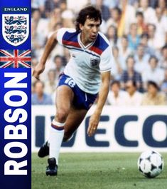 Bryan Robson. England. Bryan Robson, England Football, International Football, Vignettes, Legends, Baseball Cards, Sports, Trading Cards, Breakfast Nook