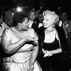 Ella Fitzgerald & Marilyn Monroe  taken in the 1950's