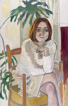 "huariqueje: "" Julie Hall - Alice Neel , 1964 American, 1900-1984 Oil on canvas, 116.8 x 76.2 cm """