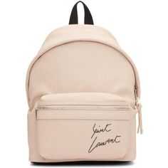 Saint Laurent Pink Mini Leather City Backpack (21.631.660 IDR) ❤ liked on Polyvore featuring bags, backpacks, pink, zip backpack, leather backpacks, leather daypack, leather zip backpack and leather knapsack