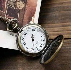 cc4ffd026e6 relógio de bolso aviador (na cor bronze) - estilo antigo -