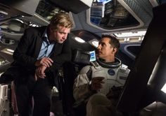 Director Christopher Nolan and Matthew McConaughey on the set of Interstellar (2014).