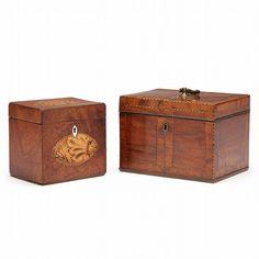 19th century English tea caddies