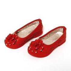 Hopscotch | Buy Stylish Diva Closed with rosette+diamond - Red on Hopscotch.in in India