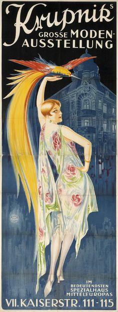 """bleistift-und-radiergummi: """" H. Neumann 'Krupnik Mode' - Austria ca.1927 """""""