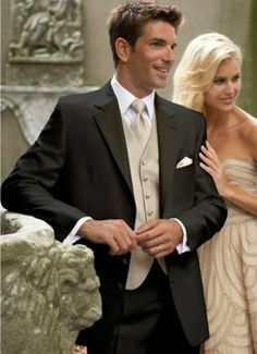 Tuxedo - I would go with a different color scheme for the vest and tie though. #fatherofthebrideoutfit #father #of #the #bride #outfit #step #father #of #the #bride #outfit