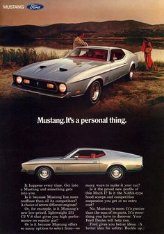 1971 Mustang Mach 1 Ad