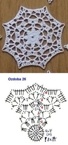 Crochet Snowflake Pattern, Crochet Stars, Crochet Snowflakes, Crochet Mandala, Easy Crochet Patterns, Crochet Granny, Filet Crochet, Crochet Motif, Lace Doilies