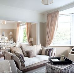 Sage green and taupe living room | Living room decorating | housetohome.co.uk | Mobile