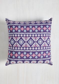 Geometric Ton of Fun Pillow. This violet pillow may be plush, but it certainly packs a punch of panache! #purple #modcloth