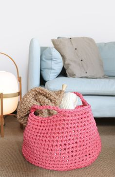 Checkers Basket | We Are Knitters