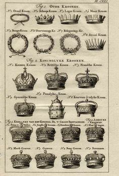 Different Crown Shapes Drawing