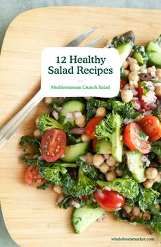 12 Healthy Salad Recipes // From quinoa salad to kale & avocado, there is a healthy salad for everyone. Pack these in a mason jar for an easy grab-n-go lunch.