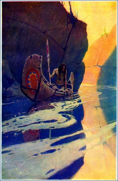 Newell Convers Wyeth was an outstanding pupil of the renowned illustrator Howard Pyle and became one of the best American illustrators. Art And Illustration, History Of Illustration, Native Art, Native American Art, American Artists, Fantasy Kunst, Fantasy Art, Nc Wyeth, Howard Pyle