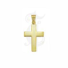 Βαπτιστικός σταυρός ΤΡΙΑΝΤΟΣ για αγόρι από χρυσό Κ18 σε κλασική απλή γραμμή | Κοσμήματα ΤΣΑΛΔΑΡΗΣ στο Χαλάνδρι #τριάντος #βαπτιστικός #σταυρός #βάπτισης #αγόρι