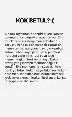 48 ideas for quotes indonesia bahagia Tumblr Quotes, Text Quotes, Jokes Quotes, Mood Quotes, Daily Quotes, Life Quotes, Quotes Lucu, Cinta Quotes, Quotes Galau