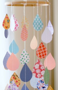 Mobiles can be simple or complex balancing acts with all sorts of tiers and hanging items..