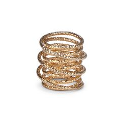 Women's Gold 14k Gold Plated Brass Layering Armor Ring by Sole Society