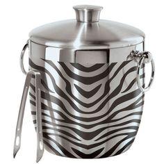 Oggi Zebra Stainless Steel Double Wall Ice Bucket