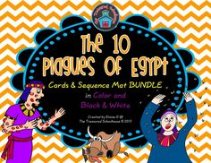 The 10 Plagues of Egypt Cards and Sequence Mat