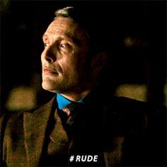 Mads Mikkelsen (The Great Dane) as Hannibal! Mads played this character to the bone!