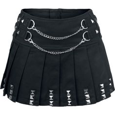 "Jawbreaker Short skirt, Women ""Punk Skirt"" black • EMP"