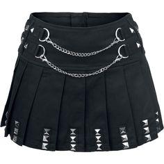 """Jawbreaker Short skirt, Women """"Punk Skirt"""" black • EMP"""