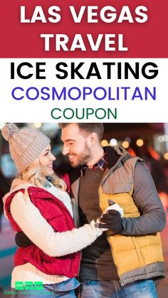 Las Vegas holiday travel advice for the Christmas season - enjoy skating at The Ice Rink at The Cosmopolitan of Las Vegas! This is an amazing activity to enjoy with your family, your date or your friends. This is a fabulous rooftop ice rink with real ice, named by USA Today as one of the ten best skating rinks in North America! Find out more including safety measures plus how you can save money on & get hot chocolate with admission. #LasVegas #IceSkating #HolidayTravel #ChristmasInVegas…