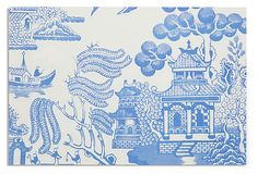 50 disposable Chinoiserie placemats