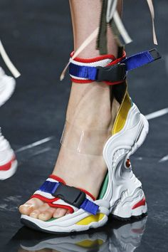 Dsquared2 with a scissor kick to the jaw of the frankensneaker trend