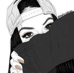 girl drawing black and white Hipster Girl Drawing, Tumblr Girl Drawing, Tumblr Drawings, Tumblr Art, Girl Drawings, Hipster Drawings, Tumblr Outline, Tumblr Hipster, Illustration Mode