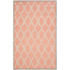 Safavieh Hand-Tufted Cambridge Coral/ Ivory Wool Rug (6' x 9') - Overstock Shopping - Great Deals on Safavieh 5x8 - 6x9 Rugs
