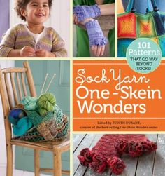 A veteran knitter has chosen not simply inventive sock patterns but also more than five dozen inspired patterns for other items that can be created from a single skein of sock yarn, including baby clothes, scarves, hats, jewelry, cozies, bags, a dog sweater, a lampshade and much more.