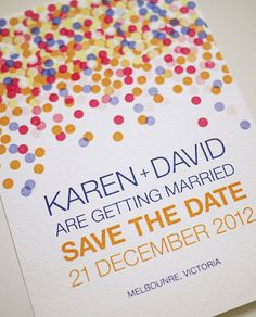 Cute save the date and wedding invitations