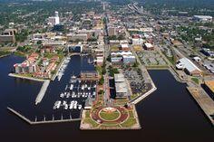 Aerial view of Downtown Pensacola, Florida. #ExplorePcola