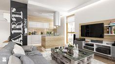 PORTFOLIO - Średni salon z kuchnią, styl skandynawski - zdjęcie od PEKA STUDIO