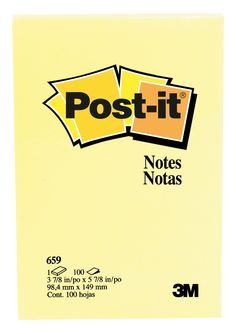 Post-it Original Notes, 4 x 6 in, Canary Yellow, 100 sheets/pad, Pack of 12 Classroom Direct, Notes, The Originals, Yellow, Report Cards, Notebook