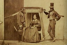 Description	  Lady in litter being carried by her slaves, province of São Paulo in Brazil, ca.1860.    Date	  c. 1860  Source	  VASQUEZ, Pedro Karp. O Brasil na fotografia oitocentista. São Paulo: Metalivros, 2003.    Author	  Anônimo    Permission  (Reusing this file)	  See below.