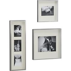 --Brushed silver frames. Another classic style to make your base style frame. Keeps it less dramatic and lighter. --aw--