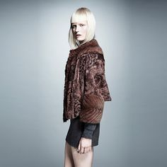 Mink and broadtail jacket. From Hockley London.