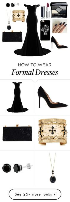 """formal style"" by dcxiong83 on Polyvore featuring Christian Dior, Givenchy, Gianvito Rossi, Aurélie Bidermann, Bloomingdale's and Jimmy Choo"