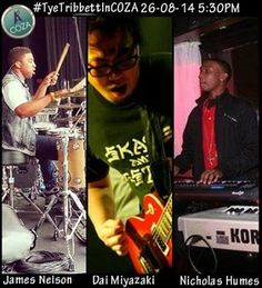 Meet James Nelson, Dai Maiyazaki and Nicholas Humes, talented instrumentalists and part of Tye Tribbett's team. Are you ready for worship without boundaries? Brace up for ‪#‎TyeTribbettInCOZA‬.