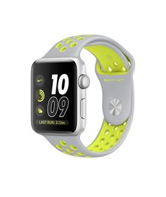 Apple Watch Nike+ (Series 2) -Silver Aluminum Case with Flat Silver/Volt Nike Sport Band (38mm & 42mm)