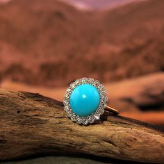 Image of Victorian Turquoise and Diamond Ring