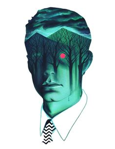 Agent Dale Cooper / Twin Peaks by Veronica Fish