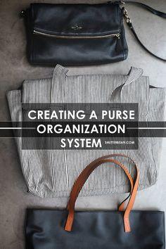Creating A Purse Organizing System