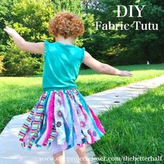 DIY No-Sew Fabric Tutu. So cute and simple! #crafts #sewing #kids #TheBetterHalf
